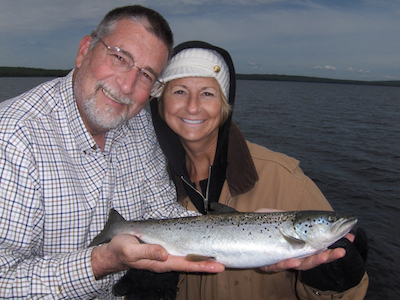 Maine Landlocked Salmon Fishing with Charles Driza